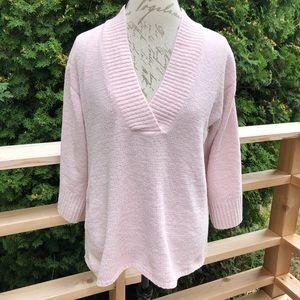 J Jill light pink oversized v-neck sweater